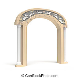 Archway with vintage decoration