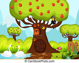 Children background, vector style - background for children...