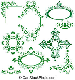 Set of floral elements - for design - Set of floral elements...