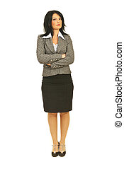 Attractive business woman with attitude - Full body of...