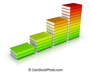 Colorful books chart