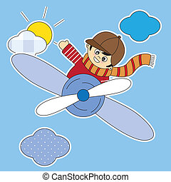 Child Flying in an airplane