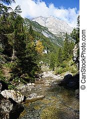 Nature - An image of great italian mountains and a stream