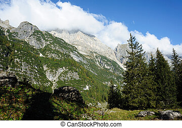 Mountains - Mountain landscape in the Italian alps