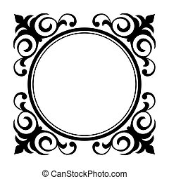 circle ornamental decorative frame - Vector circle...