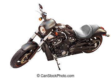black fast motorcycle