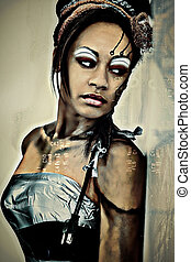 Sexy Adult Fantasy Cybrog Abstract Portrait - Sexy Adult...