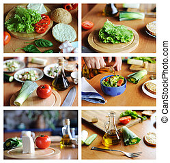 Healthy food - An image of a set of photos with healthy food...