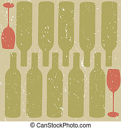 Distressed Wine Background - A dusty coloured wine bottle...