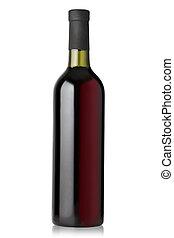 bottiglie, rosso, vino