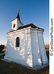 Small Church - Small chapell on the hill at a wineyard with...