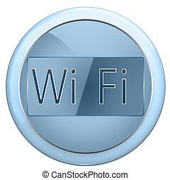 Button wi fi - The blue button labeled wi fi