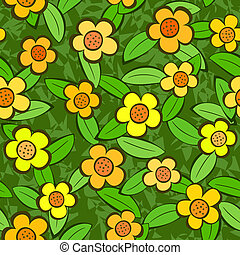 Flowers Seamless Vector Repeat Pattern