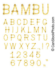 vector bamboo stick abc alphabet