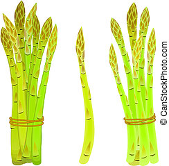 asparagus spears tied in a bunch - Asparagus spears tied in...