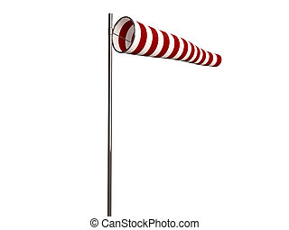 windsock isolated on white background