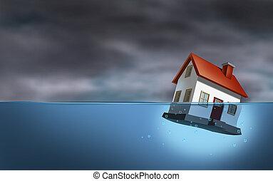 verdadero, propiedad, crisis