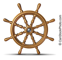 Boat Steering Wheel - Boat and ship steering wheel as a...