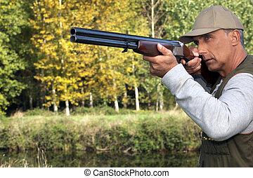 caçador, arma