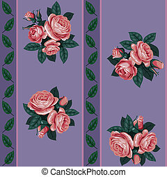 red rose line seamless background