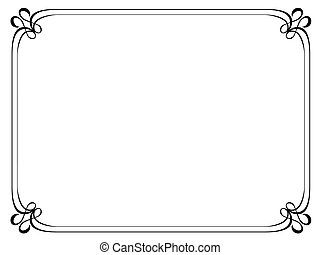 simple ornamental decorative frame