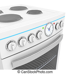 Electric cooker - Details of front panel on electric cooker