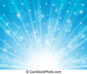 Blue sky background. Vector illustration.