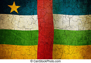 Grunge Central African Republic flag - Central African...