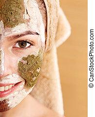 Natural homemade clay facial masks . - Natural homemade clay...