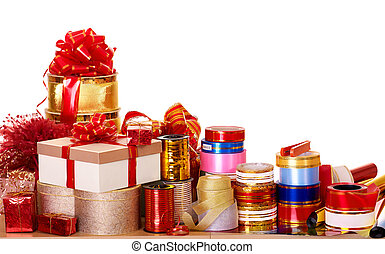 Group of color gift box.