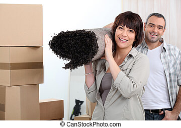Couple moving out