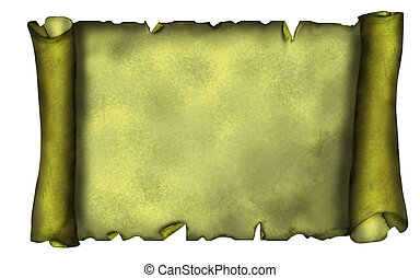 Illustration of old scroll banner in grunge style.