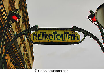 Metropolitain - Trust of the subway of Paris in art deco.