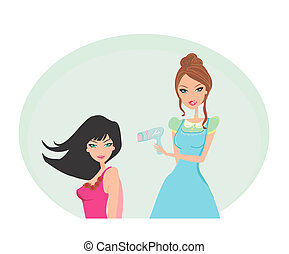 The hairdressing salon - Vector illustration of the...
