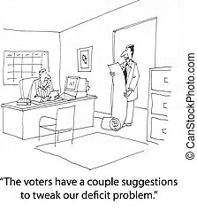 Tweak deficit - pollster tells politician about opinions