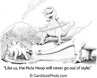 Hula Hoop - dinosaur is wrong about style