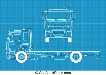 Vector truck - High detailed vector illustration of a truck...