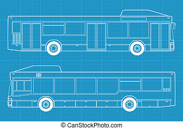 high detailed bus illustration - High detailed vector...