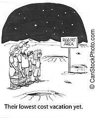 Vacation to mars - family saves money on vacations