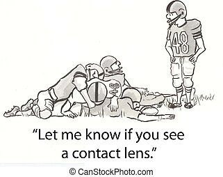 Contact lens - football player looks for lens