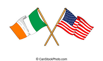 America and Republic of Ireland alliance and friendship -...