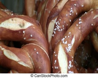 Pretzels for sale in Prague - Pretzels for sale in a...