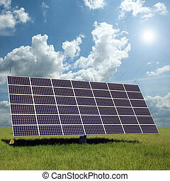 alternative energy - solar panels to generate electricity