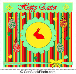 Template Easter greeting card, vect