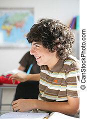 Teens in classroom