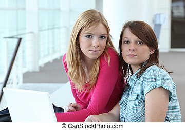 female duo in office