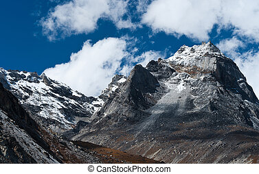 Mountains near Gokyo in Himalayas. Shot in Nepal, 4800 m