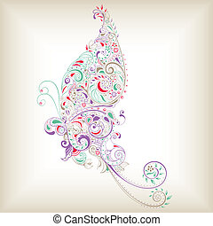 Abstract Butterfly - Illustration of abstract butterfly...