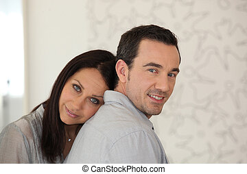 couple together at home