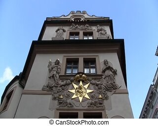 Entrance to Czech building - Entrance to a building in...